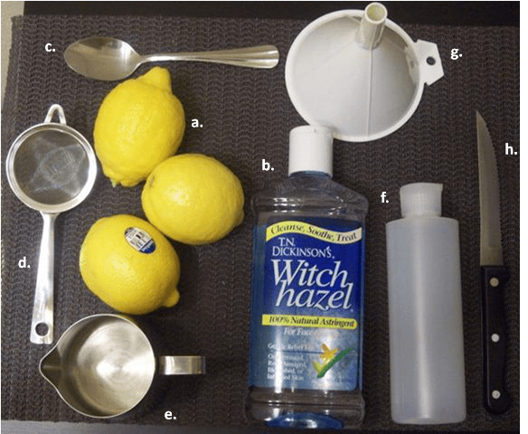 Lemon toner
