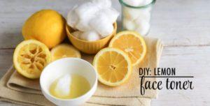 lemon face toner