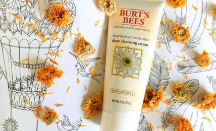 review sua rua mat khong bot burts bee