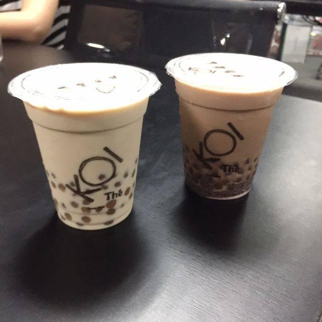 Trà sữa Koi do Food Panda thử