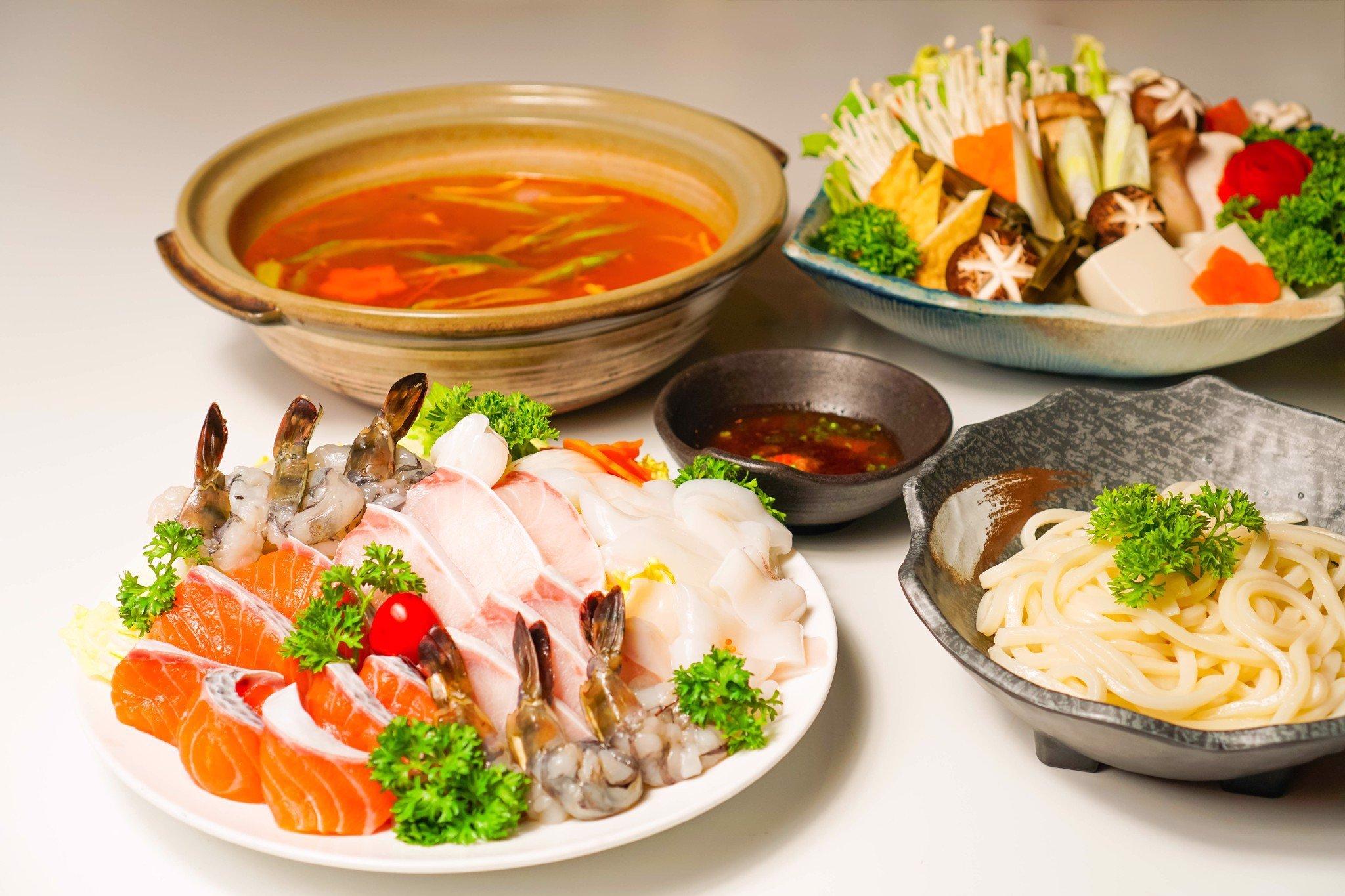 nguyên liệu nấu lẩu hải sản