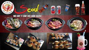 Menu vô cùng hấp dẫn tại Mì cay Seoul
