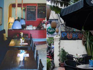 quán cafe được trang trí khá đặc biệt có sự kết hợp hài hòa giữa nét truyền thống và cả hiện đại