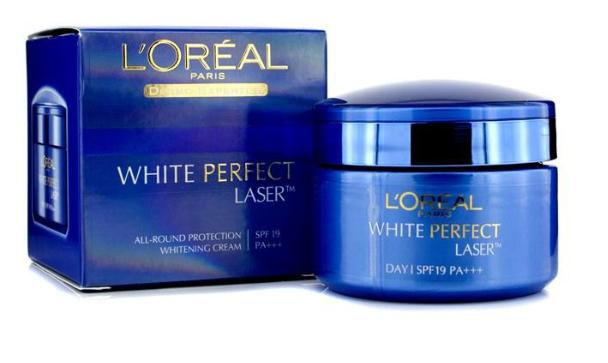 L'oreal Paris White Perfect Night Cream.