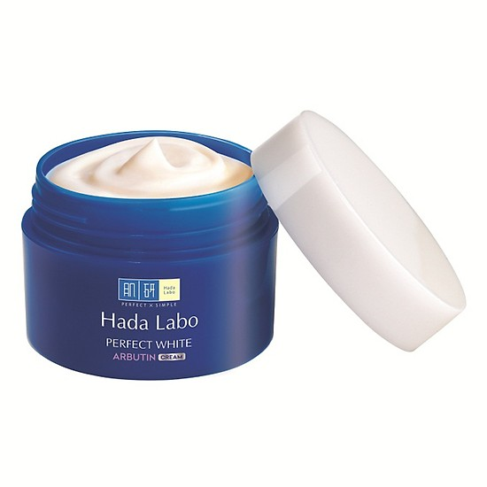 Kem Hada Labo Perfect White Arbutin Cream.