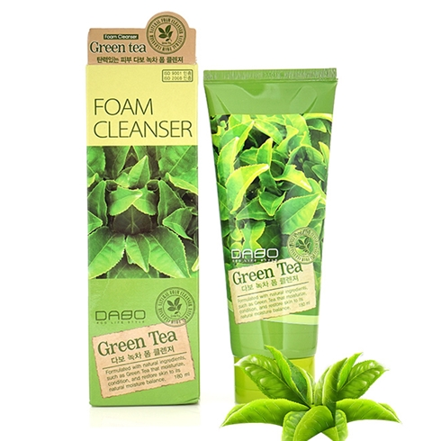 Sữa rửa mặt trắng da Dabo Green Tea Foam Cleanser