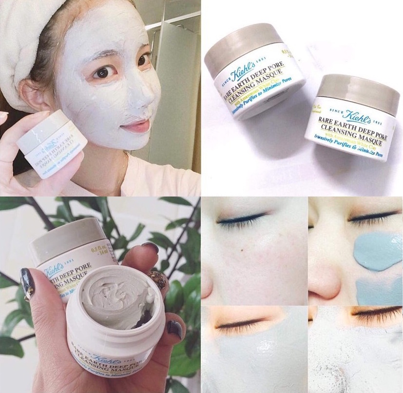 mat na dat set kiehl's rare earth deep pore cleansing masque