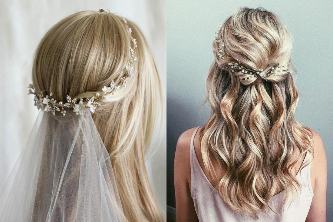 tóc buộc nửa