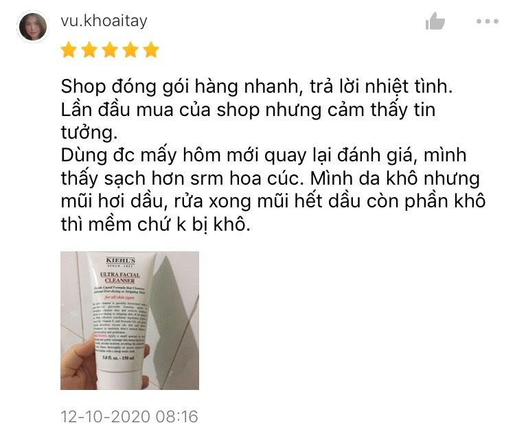 sữa rửa mặt cho da nhạy cảm 12