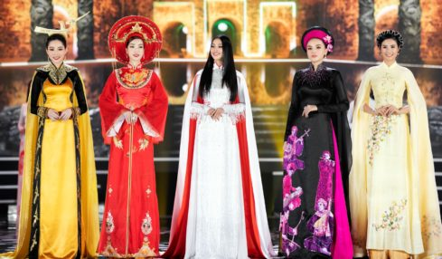 áo dài chung kết hoa hậu việt nam 2020